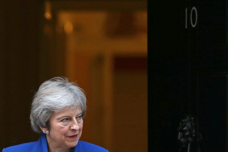 Britain's Prime Minister Theresa May outside 10 Downing Street in London last month. Credit Daniel Leal-Olivas/Agence France-Presse — Getty Images