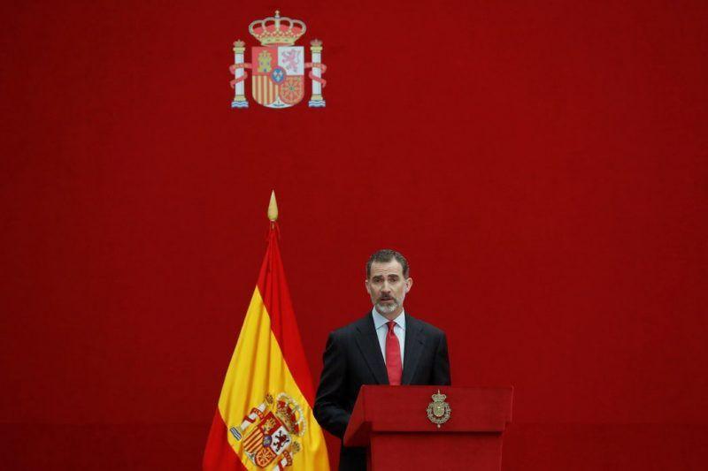 El rey de España, Felipe VI, en mayo de 2018. Credit Juan Carlos Hidalgo/EPA vía Shutterstock