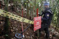 En marzo de 2015, se coordinó una operación de desminado en el municipio Cocorná. Credit Luis Eduardo Noriega/European Pressphoto Agency