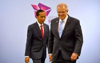 Prime Minister Scott Morrison of Australia, right, and the Indonesian president, Joko Widodo, at a recent meeting on the sidelines of an international summit in Singapore.CreditCreditMick Tsikas/EPA, via Shutterstock