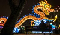 A giant lantern depicting a dragon at a Chinese lantern festival in Gaillac, France on 12 December. Photo: Getty Images.