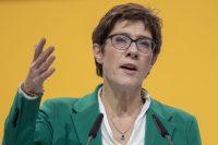 The new leader of the German Christian Democratic Union, Annegret Kramp-Karrenbauer, on Saturday in Hamburg. She will succeed Angela Merkel.CreditCreditThomas Lohnes/Getty Images