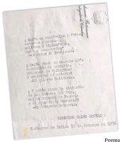 Poema mecanografiado por Calvo-Sotelo en Cartagena de Indias en febrero de 1976