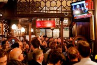 Customers at the Red Lion pub near Parliament watching Prime Minister Theresa May speaking on Tuesday after her Brexit agreement was voted down.CreditCreditTolga Akmen/Agence France-Presse — Getty Images