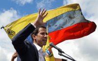 El líder de la Asamblea Nacional de Venezuela, Juan Guaidó, se juramentó como presidente encargado del país el 23 de enero de 2019 en Caracas. Credit Federico Parra/Agence France-Presse — Getty Images