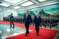 President Xi Jinping of China and President Frank-Walter Steinmeier of Germany with a military honor guard in Beijing last month. German leaders have recently become more worried about the risks of having China as a business partner.CreditCreditFred Dufour/Agence France-Presse — Getty Images