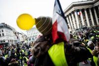 Manifestation de gilets jaunes place de la Bourse à Paris, le 5 janvier. Photo Denis Allard pour Libération
