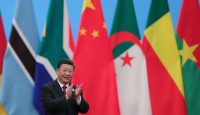Xi Jinping at the Forum on China-Africa Cooperation in Beijing in September 2018. Photo: Getty Images.