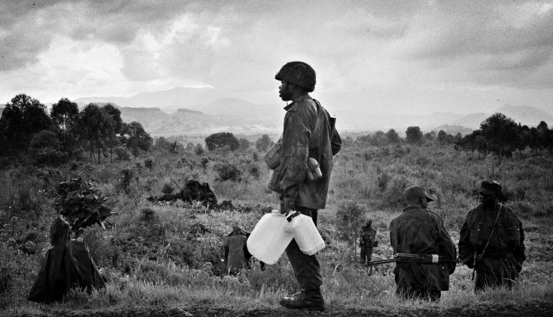 Congolese soldiers in 2008. A study in the Democratic Republic of Congo reported that a quarter of men in conflict affected areas had experienced sexual violence. Photo: Getty Images.