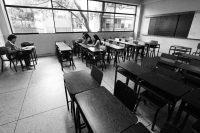 Un grupo de estudiantes asiste a una clase en la Universidad de los Andes, en el estado de Táchira, en marzo de 2018. CreditGeorge Castellanos/Agence France-Presse — Getty Images