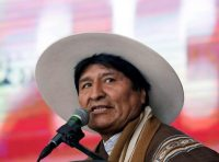 President Evo Morales of Bolivia is preparing to run for an unprecedented fourth term. (David Mercado/Reuters)