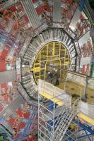The Large Hadron Collider is the world's largest particle accelerator. It's a 16-mile-long underground ring, located at CERN in Geneva, in which protons collide at almost the speed of light.CreditCreditLeslye Davis/The New York Times