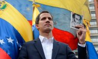 'Guaidó is 100% working class. He grew up and still lives in Vargas, one of the most impoverished states.' Photograph: Federico Parra/AFP/Getty Images