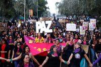Colectivos de mujeres organizaron marchas en distintas ciudades ecuatorianas en protesta a la violencia en contra de las mujeres. Esta manifestación, en Quito, sucedió el 21 de enero. Credit Cristina Vega/Agence France-Presse — Getty Images