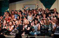 El 11 de diciembre de 2018, integrantes del colectivo Actrices Argentinas estuvieron presentes durante la conferencia de prensa en la que Thelma Fardin denunció un caso de violencia sexual. Credit Marcelo Capece/Agence France-Presse — Getty Images