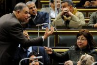 Members of the Egyptian Parliament debating proposed constitutional amendments that would increase presidential term limits, in Cairo, in February. Credit Mohamed Mostafa/NurPhoto, via Getty Images