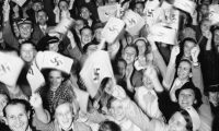 'My grandad joined the Nazi party early, and volunteered to fight in 1940.' An enthusiastic Berlin crowd react to a speech by Adolf Hitler in September 1939. Photograph: Keystone-France/Gamma-Keystone via Getty Images