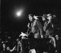 El 8 de enero de 1959, Fidel Castro pronunció un discurso a sus seguidores en Columbia, la base militar de Fulgencio Batista, ahora llamada Ciudad Libertad. créditoAssociated Press