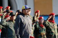 President Nicolás Maduro attends a ceremony to commemorate the 27th anniversary of late Venezuelan leader Hugo Chávez's failed coup on Feb. 4. (Miraflores Palace/Handout via Reuters)