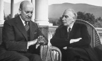 John Maynard Keynes with US treasury secretary Henry Morgenthau at Bretton Woods in 1944. Now is the time to mobilize. Photograph: Alfred Eisenstaedt/Time & Life Pictures/Getty Image