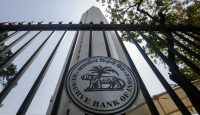 The Reserve Bank of India (RBI) logo is displayed on a gate at the central bank's headquarters in Mumbai, India. Photo: Getty Images