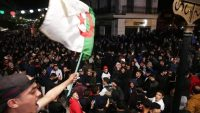The opponents protest against Bouteflika's re-candidacy in Algiers, Algeria on 04 March 2019. President Bouteflika will run for a fifth term in office but vows to call for early polls if he is reelected in April, his campaign manager announced on Sunday. Farouk Batiche / Anadolu Agency