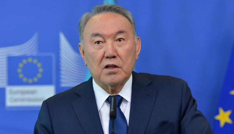 Former Kazakhstan president Nursultan Nazarbayev. Photo by Dursun Aydemir/Anadolu Agency/Getty Images.