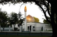 Al Noor Mosque, where one of two anti-Muslim terrorist attacks took place in Christchurch, New Zealand, on Friday. Credit Martin Hunter/SNPA, via Reuters