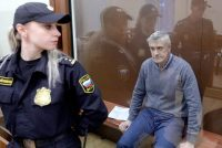 Sergei Bobylev/TASS via Getty Images. Baring Vostok founder Michael Calvey at a Moscow district court hearing following his arrest on fraud charges, Russia, February 15, 2019
