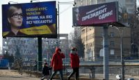 Candidate billboards in Kyiv. Photo: Getty Images.
