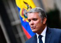 Iván Duque, el presidente de Colombia, en Washington, durante su visita a Donald Trump, presidente de Estados Unidos. Credit Brendan Smialowski/Agence France-Presse — Getty Images