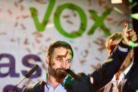 Santiago Abascal, el líder de Vox —partido de extrema derecha de España—, en Madrid después de que se dieron los resultados de las elecciones del 28 de abril de 2019. Óscar del Pozo/Agence France-Presse — Getty Images