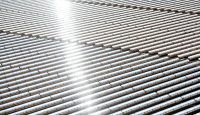 Solar panels at the Noor Concentrated Solar Power (CSP) plant which is located 20km outside Ouarzazate in Morocco. The solar plant is one of the largest in the world designed to boost renewable energy production in Morocco. Photo: Getty Images