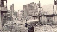 Una imagen de Gernika, tras el bombardeo del 26 de abril de 1937. FUNDACIÓN SABINO ARANA