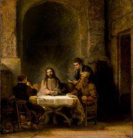 Rembrandt. Los peregrinos de Emaús (1648)