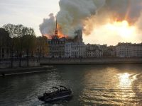 Smoke billowed from the Notre-Dame cathedral in Paris after a fire broke out on Monday. Credit Julie Carriat/Reuters