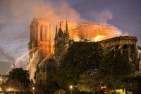 Paris, 16 avril 2019. Incendie à Notre Dame de Paris. Photo Yann Castanier. Hans Lucas