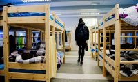 An arrival centre for refugees in northern Norway, November 2015. Photograph: Jonathan Nackstrand/AFP/Getty Images