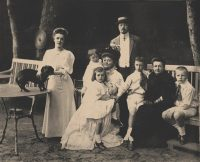 The Nabokov family circa 1907. Young Vladimir is third from right. Standing are his father, Vladimir Dmitrievich, and mother, Elena Ivanovna. Credit Fine Art Images/Heritage Images, via Getty Images