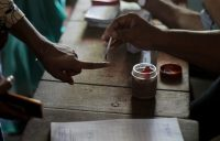 Voters casting their votes in the third phase of India's general election. Credit NurPhoto, via Getty Images