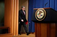 Attorney General William P. Barr gave a news conference about the special counsel's report Thursday in Washington.CreditTom Brenner for The New York Times
