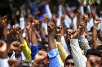 Dalits, India's most marginalized people, at a protest in New Delhi last August.CreditCreditSajjad Hussain/Agence France-Presse — Getty Images