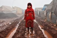 A child outside her shelter at Al-Ihsan refugee camp in Idlib, Syria, in January. The human cost of proxy wars has grown far too high.CreditCreditMuhammed Abdullah/Anadolu Agency, via Getty Images