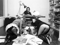 Jorge Herralde y sus secretarias. Colita Barcelona