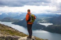 A hiker on Besseggen ridge. Koimages/iStock, via Getty Images Plus