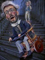 Cuando Robespierre tira la silla de ruedas por las escaleras