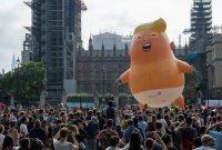 Manifestantes en Londres el año pasado con una figura inflable del presidente estadounidense, Donald Trump, apodada Bebé Trump Credit Chris J Ratcliffe/Getty Images
