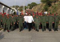 Nicolás Maduro en una ceremonia en la base militar Catia La Mar, el 14 de mayo de 2019 CreditReuters
