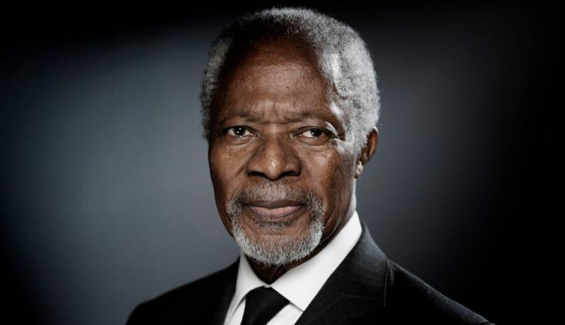 Kofi Annan in 2017. Photo: Getty Images.