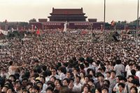 Le 2 juin 1989 sur la place Tian Anmen - Photo CATHERINE HENRIETTE / AFP